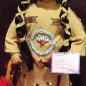 Value of a Porcelain Doll - Native American child doll