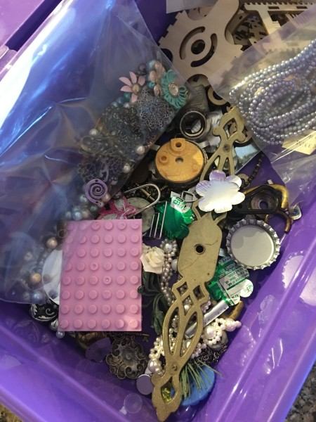 Mixed Media Journal - container of embellishments