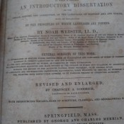 Value of a 1858 Webster's  -Dictionary - cover page