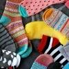 A pile of multicolored socks.