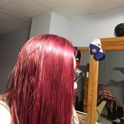 Re-dyeing Hair the Next Day - pinkish red hair