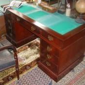Victorian Pedestal Desk Missing Keyholes in Drawers
