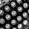 An old fashioned typewriter's buttons.