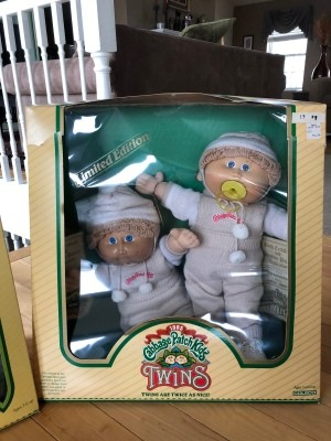 Selling Cabbage Patch Dolls - twins in the box