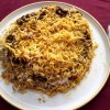 Eggplant Layered Rice on plate