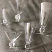 Identifying a Vintage Set of Cocktail Glasses - various sized glasses