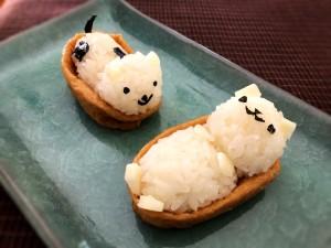 Making Animal Shaped Sushi - plate the sushi