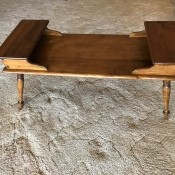 Value of Vintage Mersman Tables - coffee table with stepped ends