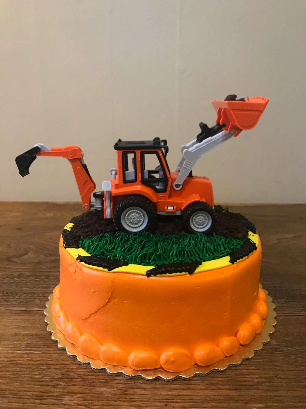 Peachy Construction Themed Birthday Cake Thriftyfun Personalised Birthday Cards Veneteletsinfo