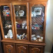 Value of a Vintage Broyhill China Cabinet - glass doored cabinet