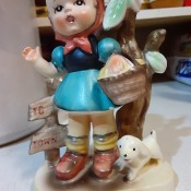 Identifying Vintage Figurines - girl with basket figurine
