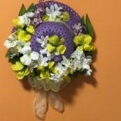 Easter Bonnet Door Wreath - finished wreath