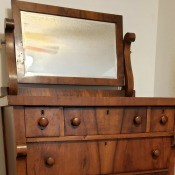 Value of an Antique Bedroom Set - tall dresser with mirror on top