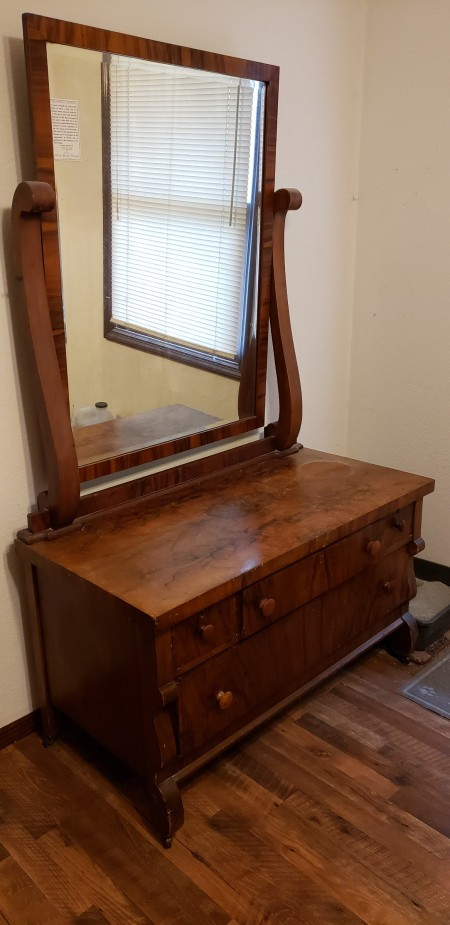 Value of an Antique Bedroom Set - low dresser with large mirror