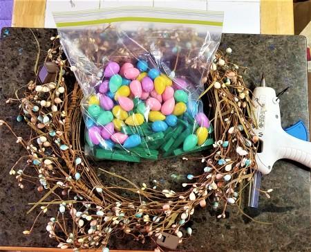 Repurposed Easter Wreath - supplies