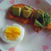 Sweet Potato Toast with avocado & egg
