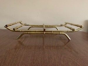 Identifying a Goodwill Find - brass curved rack with legs