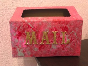 DIY Mail Box from a Kleenex Hand Towel Box  - finished box