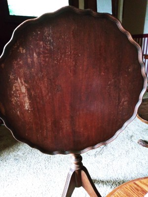 Value of a Tilt Top and Tiered Table - mahogany pie crust tilt top table