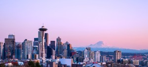 View of Mt. Rainier and Seattle skyline