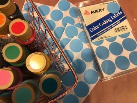 Splatter Paint Sticker Circle Garland - supplies