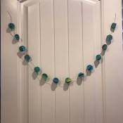 Splatter Paint Sticker Circle Garland - hanging garland