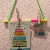 Hanging Memo Holder - ready to hang