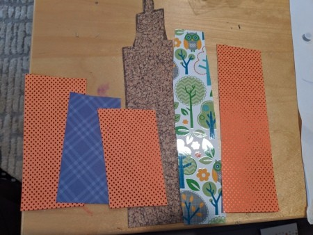 Cityscape Background for Playing with Toys - cut out rectangular shapes