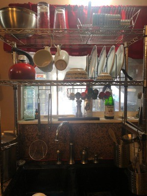 DIY Over the Counter Dish Rack - over the sink rack