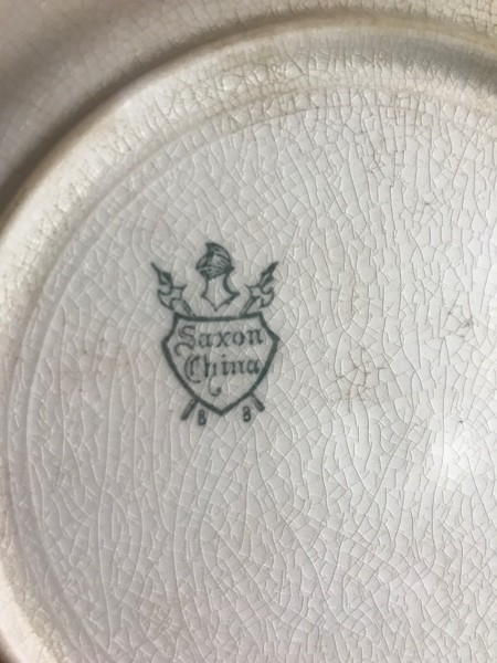 Identifying Saxon China Dinnerware