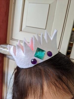 Felt Crown Headband - crown on child's head