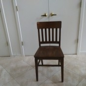 Value of a Murphy Chair - dark wood chair with slat back and no arms