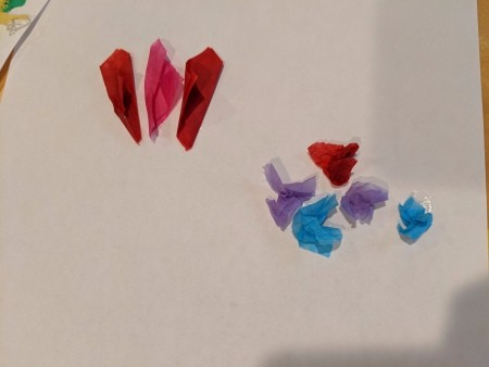 Child's Spring Floral Artwork - fold or scrunch to make flowers