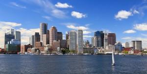 A skyline view of Boston, MA