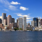 A skyline view of Boston, MA