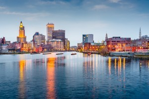 A scenic view of Providence, RI.
