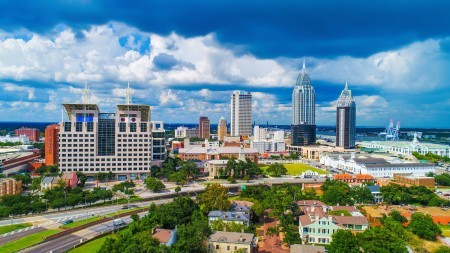 A scenic view of Mobile, Alabama.