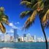 A skyline view of Miami, FL.