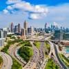 A skyline of Atlanta, GA.