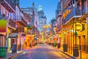 Bourbon Street in New Orleans, LA.