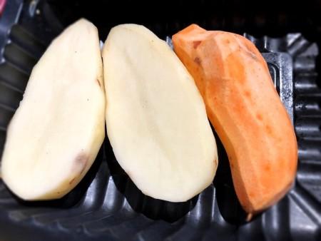 potatoes cut in half