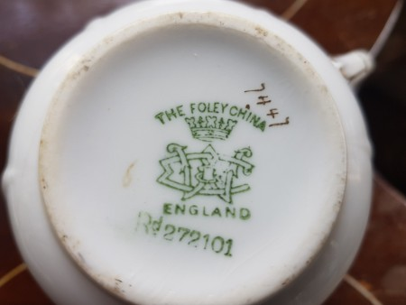 Identifying a Mustache Tea Cup and Saucer