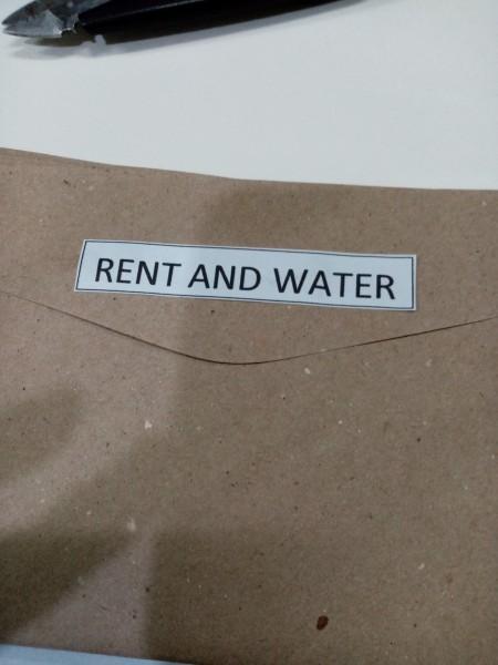 Budget Organizer - envelop with label
