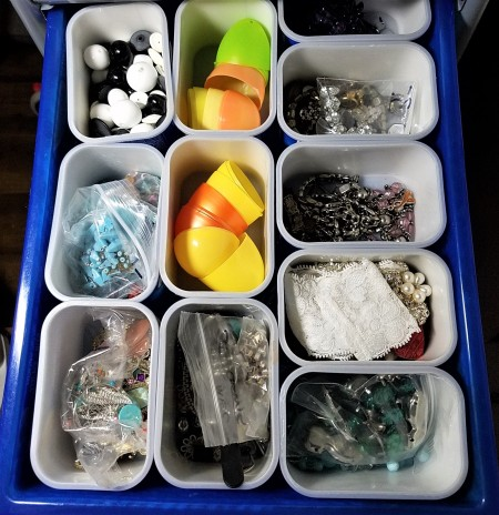 DIY Bead and Small Item Storage - reconfiguring the containers to more in