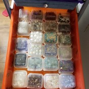 DIY Bead and Small Item Storage - second drawer of small containers
