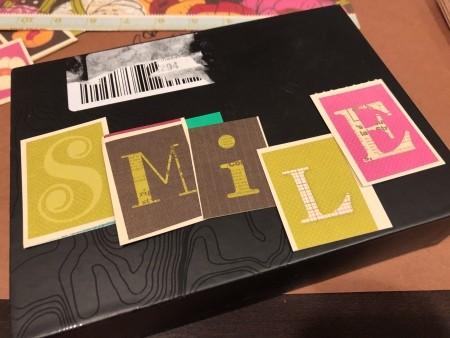 Let's Smile Box Sign Desk Decor - letters