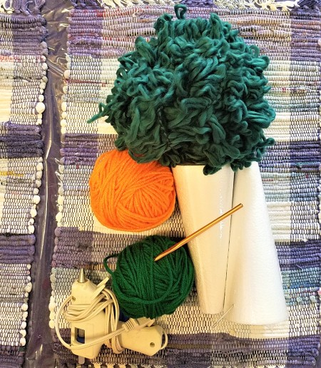 Crocheted Carrot - supplies