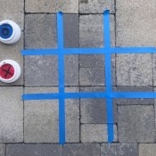 Outdoor Tic Tac Toe Game - ready to play