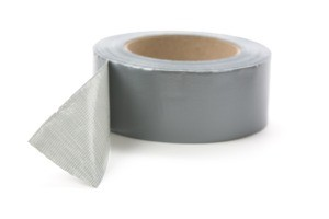 A roll of grey duct tape.