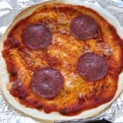 cooked Tortilla Pizza